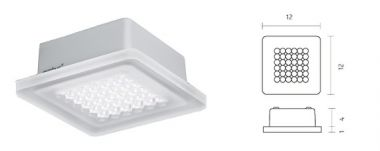 MODUL Q 36 LED.NEXT CEILING LUMINARE WITH SURFACE-MOUNTED HO