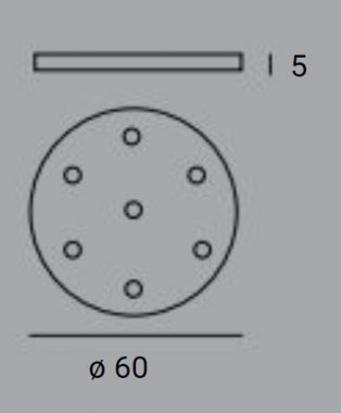 PLATES A ROUND Ø60 METALLO VERNICIATO BIANCO / WHITE VARNISH