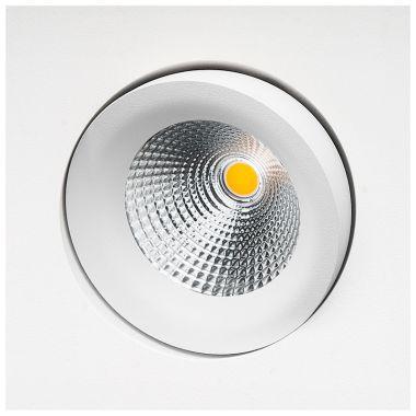 JUNISTAR GYRO SQUARE MATT WHITE 8W LED 2700K