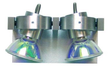 COMPAS WANDSPOT   ALU 230V 2L INCL LAMP 50W (LTD)