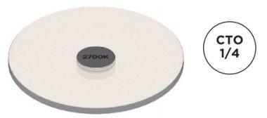 AC-E-CC-0001-00-S1 COLOR FILTER, 1/4 CTO, 3000K TO 2700K SM1