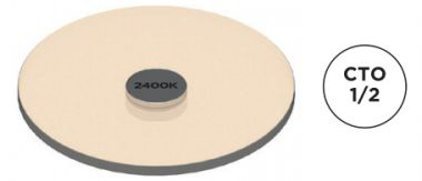 AC-E-CC-0002-00-S1 COLOR FILTER, 1/2 CTO, 3000K TO 2400K SM1