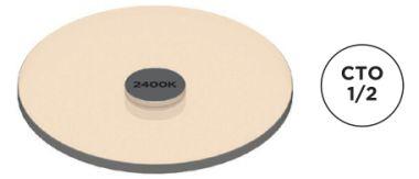AC-E-CC-0002-00-S1 COLOR FILTER, 1/2 CTO, 3000K TO 2400K SM1
