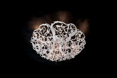 ICY LADY CEILING LAMP ROUND Ø80XH.35 CM WHITE FINISH