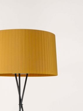 TRÍPODE G5 FLOOR LAMP MUSTARD RIBBON LAMPSHADE