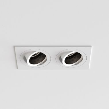 PINHOLE SQUARE TWIN ADJUSTABLE MATT WHITE