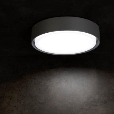 BORDA LED-AUßEN-DECKENLEUCHTE ANTHRAZIT, 1X 18W, 1120 LUMEN,