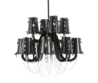 LOLA CHANDELIER WITH CRYSTALS