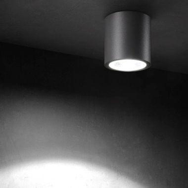 TUBUS LED-AUßEN-DECKENLEUCHTE ANTHRAZIT, 1X 7W, 420 LUMEN,
