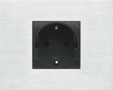 SWITCH - SOCKET PANEL COVER FOR 2 MOD BTCINO-ALU NATURAL ANO
