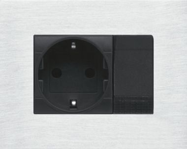 SWITCH PANEL COVER FOR 3 MODULES BTCINO - ALU NATURAL ANOD