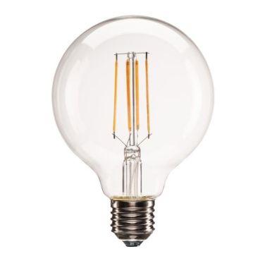 E27 LED G95, CLEAR, 2700K, 806 LM, DIM