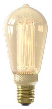 LED GLASSFIBER RUSTIC LAMP 220-240V 3,5W 100LM E27 ST64, GOL