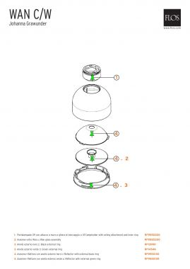 RF9550300 - WAN C/W - G9 LAMPHOLDER WITH CEILING ATTACHMENT