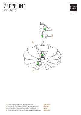 13833 - ZEPPELIN 1 - PORC. E27 LAMPHOLDER
