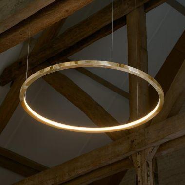 BRASS-O SUSPENSION LAMP CIRCLE BRASS