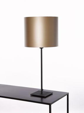 TABLE LAMP 2806-L1 SQUARE H47 BASE15-15 BLACK 1*E27