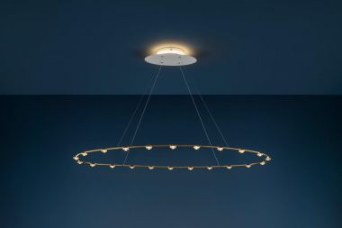 22 PETITES LENTILLES / PENDANT LAMP /  / BRASS OVAL / WHITE