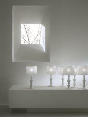 ALIBABABY - TABLE LAMP IN WHITE CERAMIC