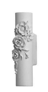 CAPODIMONTE wall lamp white ceramic
