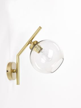 WALL LIGHT 0792-A1 OTTONE 1*E27 FOR GLASS