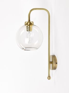 WALL LIGHT 0653-A1 OTTONE 1*E27 FOR GLASS