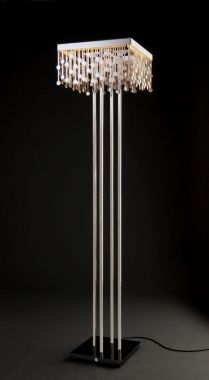 MELODY FLOORLAMP, STAINLESS STEEL WITH GOLDLEAFING