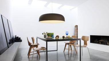 CANOPY SUSPENSION LAMP LARGE SIZE BRONZE/WHITE LED