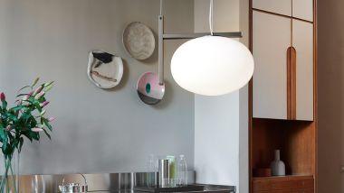 ALBA SUSPENSION LAMP ANODIC BRONZE SOLO