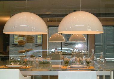 SONORA SUSPENSION LAMP OPALINE PMMA