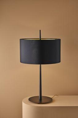 LOLA T TABLE BLACK / BLACK-GOLDEN SHADE 2X10W (E27)*