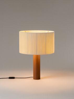 MORAGAS: LAMPSHADE: NATURAL COTTON RIBBON WITH SILK BORDER.