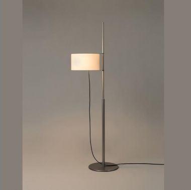 TMD: SATIN NICKEL STRUCTURE. HEIGHT-ADJUSTABLE WHITE LINEN L