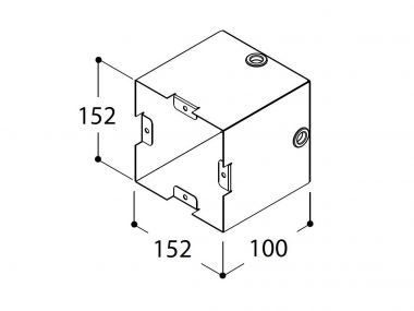 GREGORIUS INSTALLATION BOX FOR VISIBLE CONCRETE