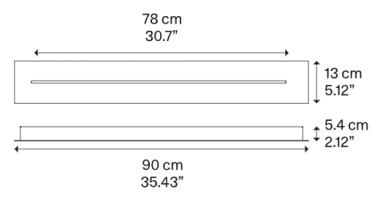 LINEAR-TRACK FOR SKY-FALL SHORT 90CM MATT WHITE