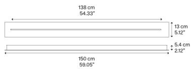 LINEAR-TRACK FOR SKY-FALL LONG 150CM MATT WHITE