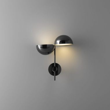 ELISABETH WALL LAMP | GLOSSY BLACK CHROMED METAL