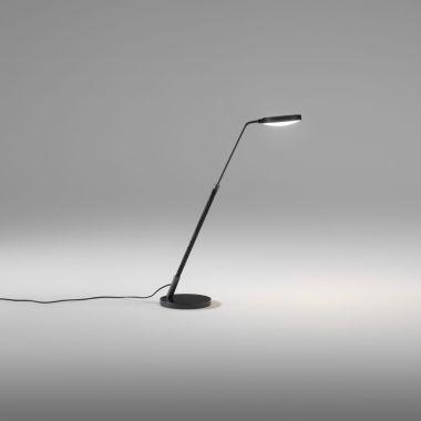 SPOON TABLE LAMP | MATT BLACK METAL | COGNAC LEATHER