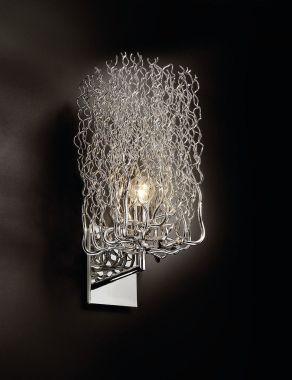 HOLLYWOOD WALL LAMP BLOCK W.20XH.45XD.25 CM NICKEL FINISH