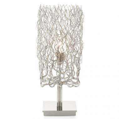 HOLLYWOOD TABLE LAMP BLOCK L.20XW.20XH.55 CM NICKEL FINISH