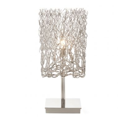 HOLLYWOOD TABLE LAMP BLOCK L.30XW.30XH.70 CM NICKEL FINISH