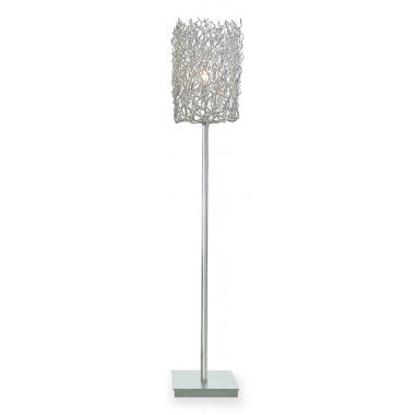 HOLLYWOOD FLOOR LAMP BLOCK L.30XW.30XH.170 CM NICKEL FINISH
