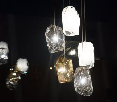 CRYSTAL ROCK / PENDANT / CLUSTER OF 5 / *