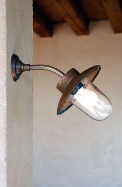 LINEA NABUCCO WALL LAMP 45 DEGREES AGED ALUMINIUM or COPPER