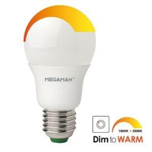 A55 LED E27 6W 2700K->1800K 470LM 25000 UDIM DTW_LG7206WU