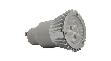 GU 10 LEDSPOT 5X1W NICHIA 40° WARM WHITE 2850K 80MM DIM