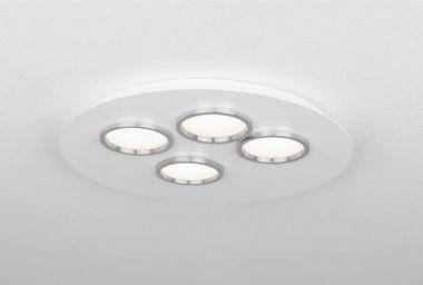 BRAC4 CEILING LAMP WHITE FT/CHROME 23,2W 2700K LED