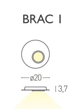 BRAC1 CEILING LAMP WHITE /SAT BRASS 5,8W 2700K LED