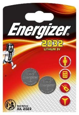 Batterij Lithium 3V CR2032, 2 stuks