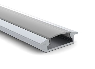 ALUMINIUM PROFILE 29,60 X 8,47 X 2.000,00 MM + FROSTED COVER